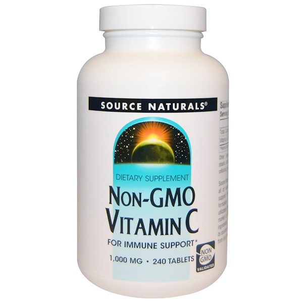 Non-GMO Vitamin C, 1,000 mg, 240 Tablets