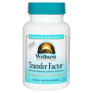 Source Naturals, Wellness Transfer Factor, 125 mg, 60 Veggie-Caps