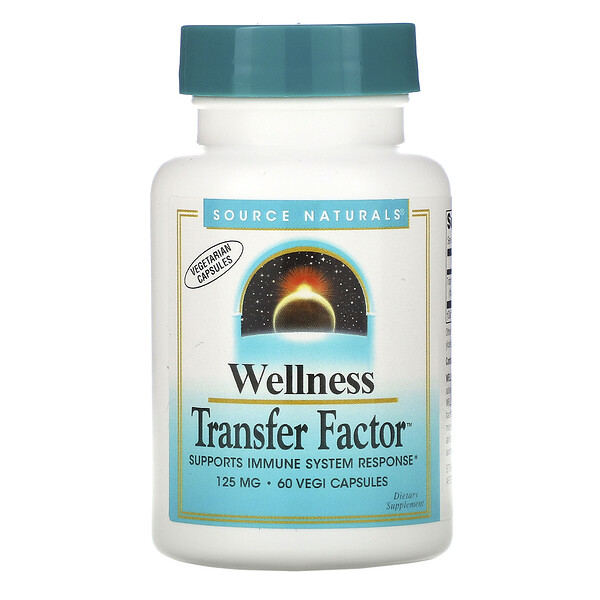Source Naturals, Wellness Transfer Factor, 125 mg, 60 Vegi Capsules