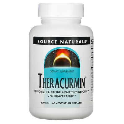 Source Naturals Theracurmin, 600 mg, 60 Vegetarian Capsules