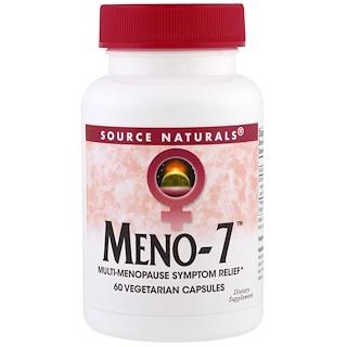Source Naturals, Meno-7, 60 Veggie Capsules