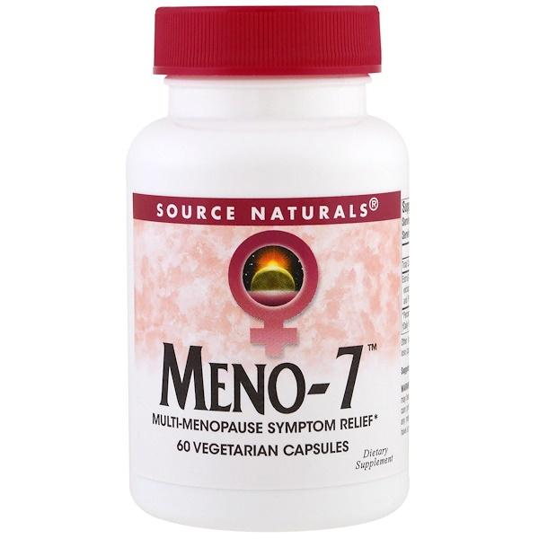 Source Naturals, Meno-7 ، 60 كبسولة نباتية