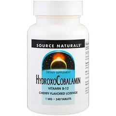 Source Naturals, 羥鈷胺,維生素B-12,櫻桃味含片,1毫克,240片