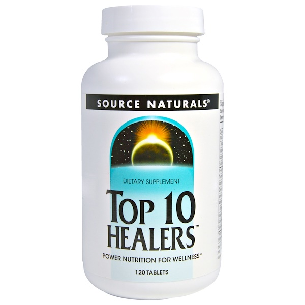 Source Naturals, Top 10 Healers, Power Nutrition for Wellness, 120 Tablets (Discontinued Item)