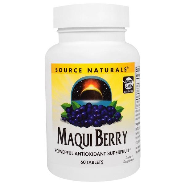 Source Naturals, Maqui Berry, 60 Tablets (Discontinued Item)