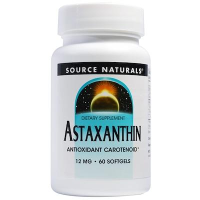 Фото - Астаксантин, 12 мг, 60 мягких желатиновых капсул high absorption coq10 with bioperine 100 мг 60 мягких желатиновых капсул