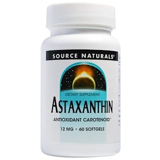 Source Naturals, Astaxanthin, 12 mg, 60 Softgels