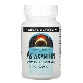 Source Naturals, Astaxanthin, 12 mg, 60 Softgels