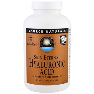 Source Naturals, Skin Eternal Hyaluronic Acid, 50 mg , 240 Tablets