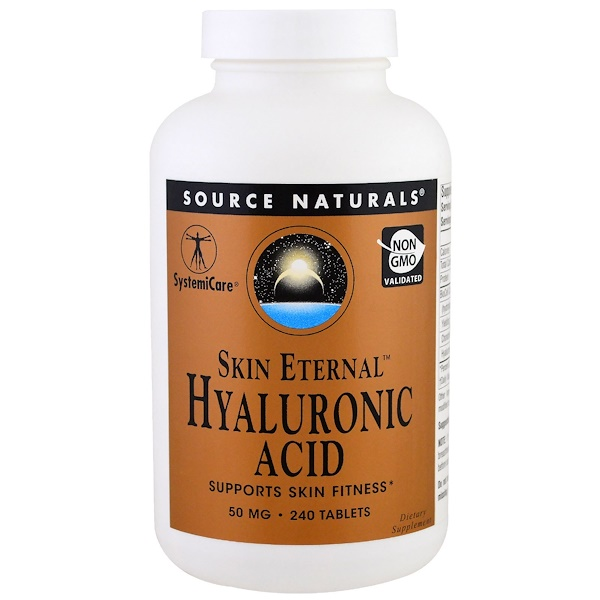 Source Naturals, Skin Eternal Hyaluronic Acid, 50 mg , 240 Tablets (Discontinued Item)
