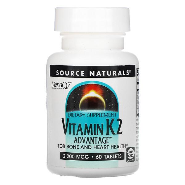 維生素 K2 Advantage,2,200 微克,60 片