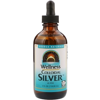 Source Naturals, Wellness Colloidal Silver,45 PPM,4液盎司(118.28毫升)