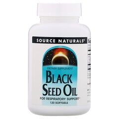 Source Naturals, 黑小茴香籽油,120粒軟膠囊