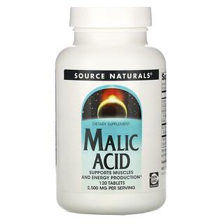 Source Naturals, Malic Acid, 2,500 mg , 120 Tablets
