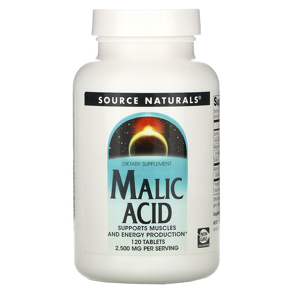 Source Naturals, Malic Acid, 2,500 mg , 120 Tablets