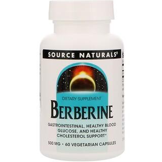 Source Naturals, Berberine, 500 mg, 60 Vegetarian Capsules