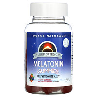 Source Naturals, Sleep Science, Melatonin Gummies, Mixed Berry, 5 mg, 60 Gummies