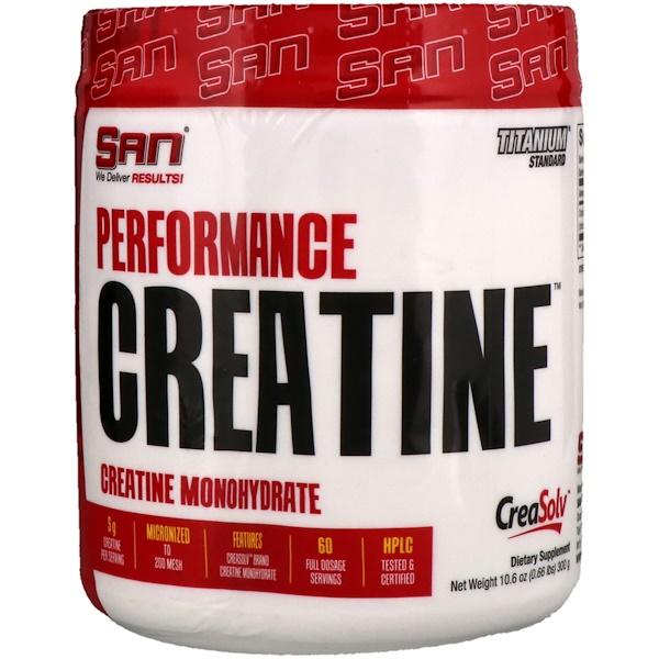 SAN Nutrition, Créatine pour la performance, 10,6 oz (300 g)