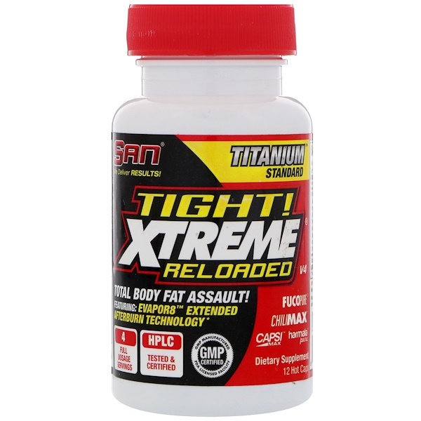 SAN Nutrition, Tight Xtreme Reloaded, 12 Hot Caps (Discontinued Item)