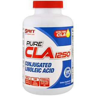 SAN Nutrition, Pure CLA 1250, 180 Softgels
