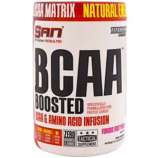 SAN Nutrition, BCAA Boosted, Furious Fruit Punch, 14.7 oz (417.6 g)