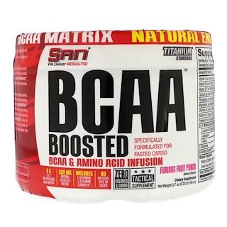 SAN Nutrition, BCAA Boosted, Яростный фруктовый пунш, 3,7 унц. (104,4 г)