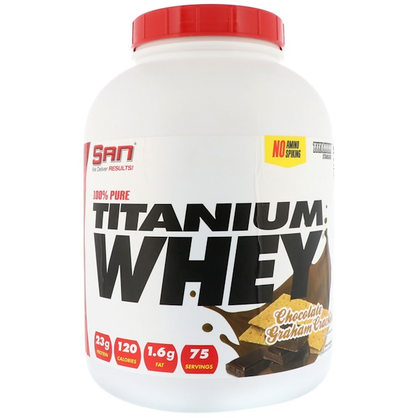 SAN Nutrition, 100% Pure Titanium Whey, Chocolate Graham Cracker, 5 lbs (2268 g)