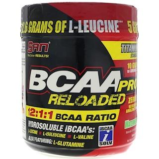 SAN Nutrition, BCAA Pro Reloaded, Watermelon, 16 oz (456 g)