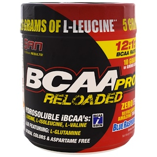 SAN Nutrition, BCAA-Pro Reloaded, Blue Raspberry, 16 oz (456 g)
