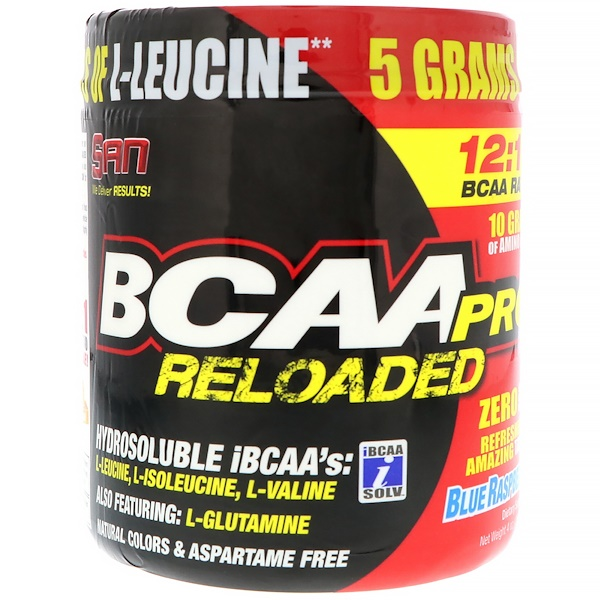 SAN Nutrition, BCAA-Pro Reloaded, Голубая малина, 4 унц. (114 г)