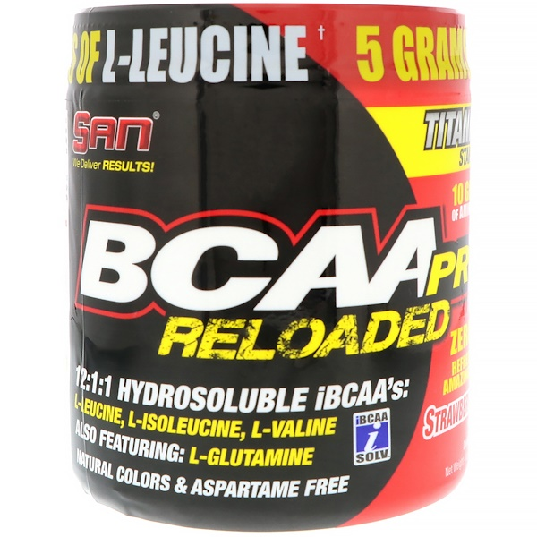 SAN Nutrition, BCAA-Pro Reloaded、ストロベリーキウイ、4 oz (114.7 g)