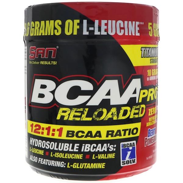 SAN Nutrition, BCAA-Pro Reloaded,漿果石榴,16、2盎司(458、6克)