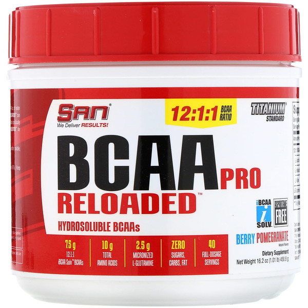 SAN Nutrition, BCAA Pro Reloaded, Berry Pomegranate, 16.2 oz (458.6 g) (Discontinued Item)