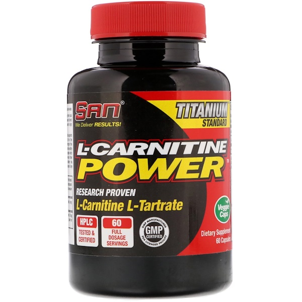 SAN Nutrition, L-Carnitine Power, 60 Capsules