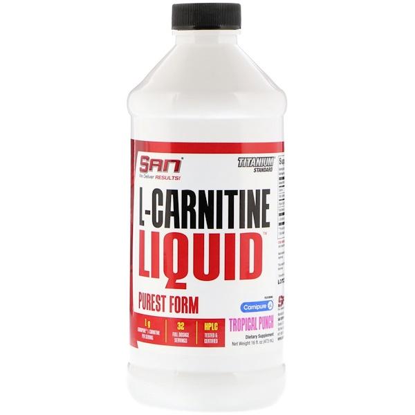 SAN Nutrition, L-カルニチンリキッド、トロピカルパンチ、473ml(16 fl oz)