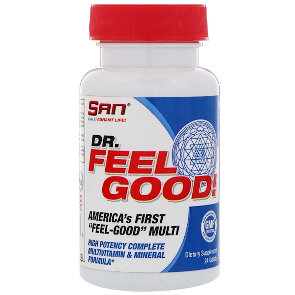 SAN Nutrition, Dr Feelgood, Multivitamines, 24 comprimés (Discontinued Item)