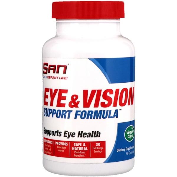 SAN Nutrition, Формула для здоровья глаз и зрения, 90 капсул