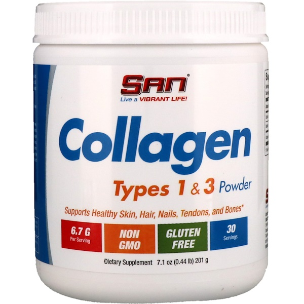 SAN Nutrition, Collagen, Types 1 & 3 Powder, 7.1 oz (201 g)