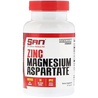 SAN Nutrition, Zinc Magnesium Aspartate, 90 Capsules