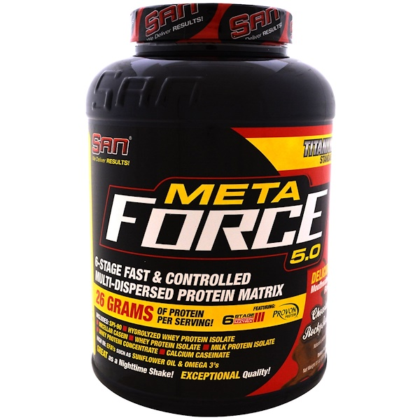 SAN Nutrition, Metaforce 5.0, Route rocheuse au chocolat, 2 297 g (81 oz) (Discontinued Item)