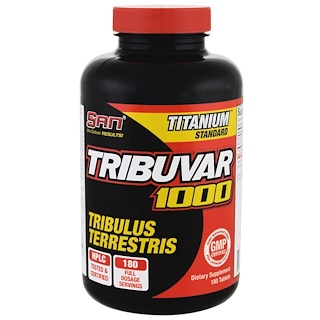 SAN Nutrition, Tribuvar 1000, 180 Tablets