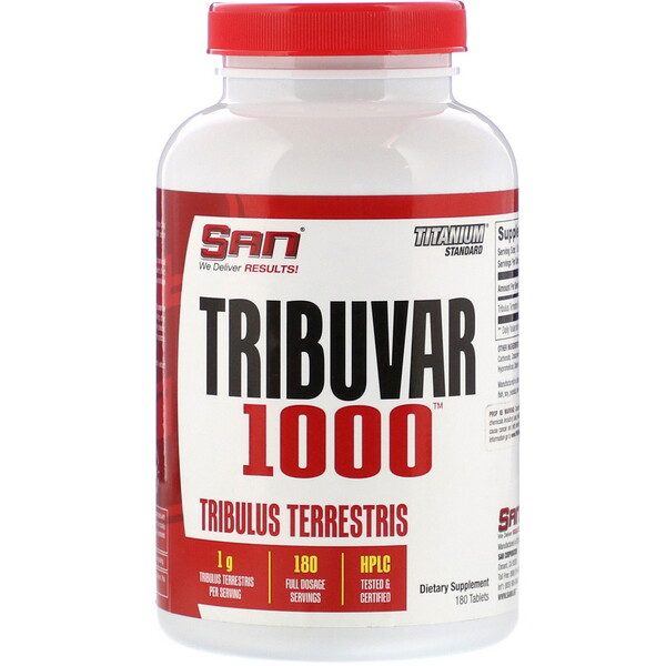 SAN Nutrition, Tribuvar 1000, 180 Tablets (Discontinued Item)