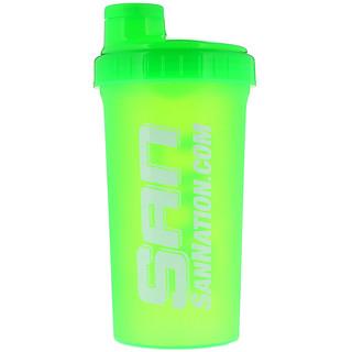 SAN Nutrition, Coqueteleira, Verde Neon, 24 oz (709 ml)