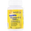 Sunshine, Vitamin D-3, 5000 IU, 30 Tablets