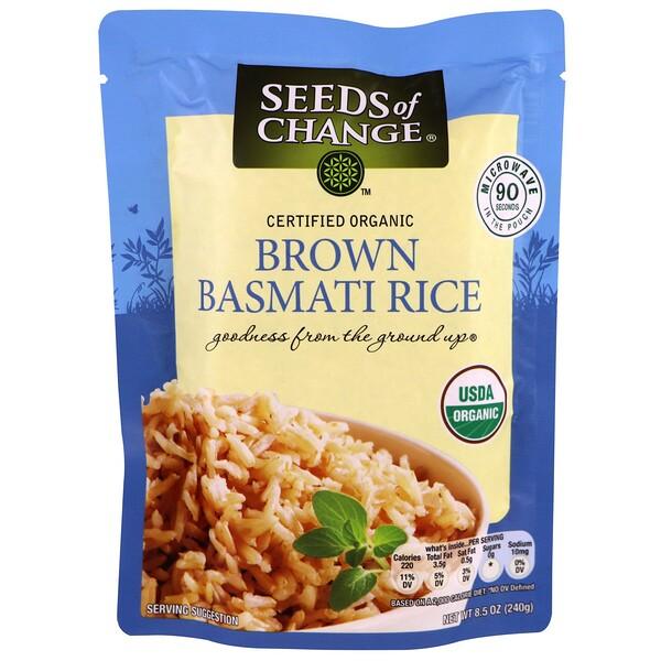 Seeds of Change, Organic, Brown Basmati Rice , 8.5 oz (240 g) (Discontinued Item)