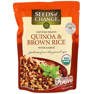 Seeds of Change, Orgánico, quinua y arroz integral, con ajo, 8.5 oz (240 g)