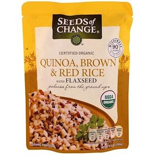 Seeds of Change, Orgánico, quinua, arroz integral y rojo con linaza, 8.5 oz (240 g)