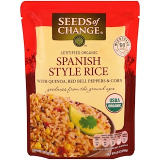 Seeds of Change, Organic, Spanish Style Rice, with Quinoa, Red Bell Peppers & Corn, 8.5 oz (240 g)