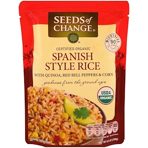Seeds of Change, Organic, Spanish Style Rice, with Quinoa, Red Bell Peppers & Corn, 8.5 oz (240 g) отзывы