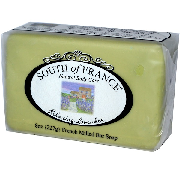 South of France, Lavender, French Milled Bar Soap, 8 oz (227 g) (Discontinued Item)